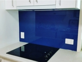 Colourback Glass Kitchen Splashback by Graphic Glass Services Qld