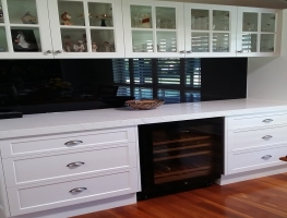 Colour Glass Splashback Black by Graphic Glass Services