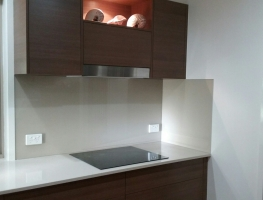 Colourbacked Glass Splashback by Graphic Glass Services Qld