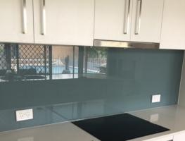 Graphic Glass Services Glass Kitchen Splashback Western Sky Blue Colour