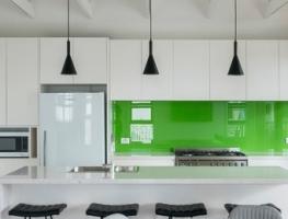 La La Lime Glass Kitchen Splashback