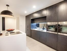 Grey Mirror Kitchen Splashback by Graphic Glass Services Qld
