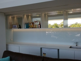 Colour Back Bar Splashback by Graphic Glass Services Qld