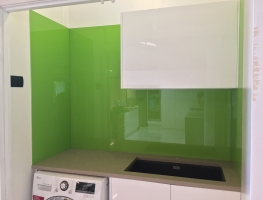 Colourback Glass Laundry Splashback by Graphic Glass Services Qld