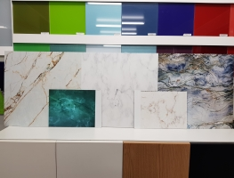 Marble & Granite Effect on Composite or Glass Panels by Graphic Glass Services Qld