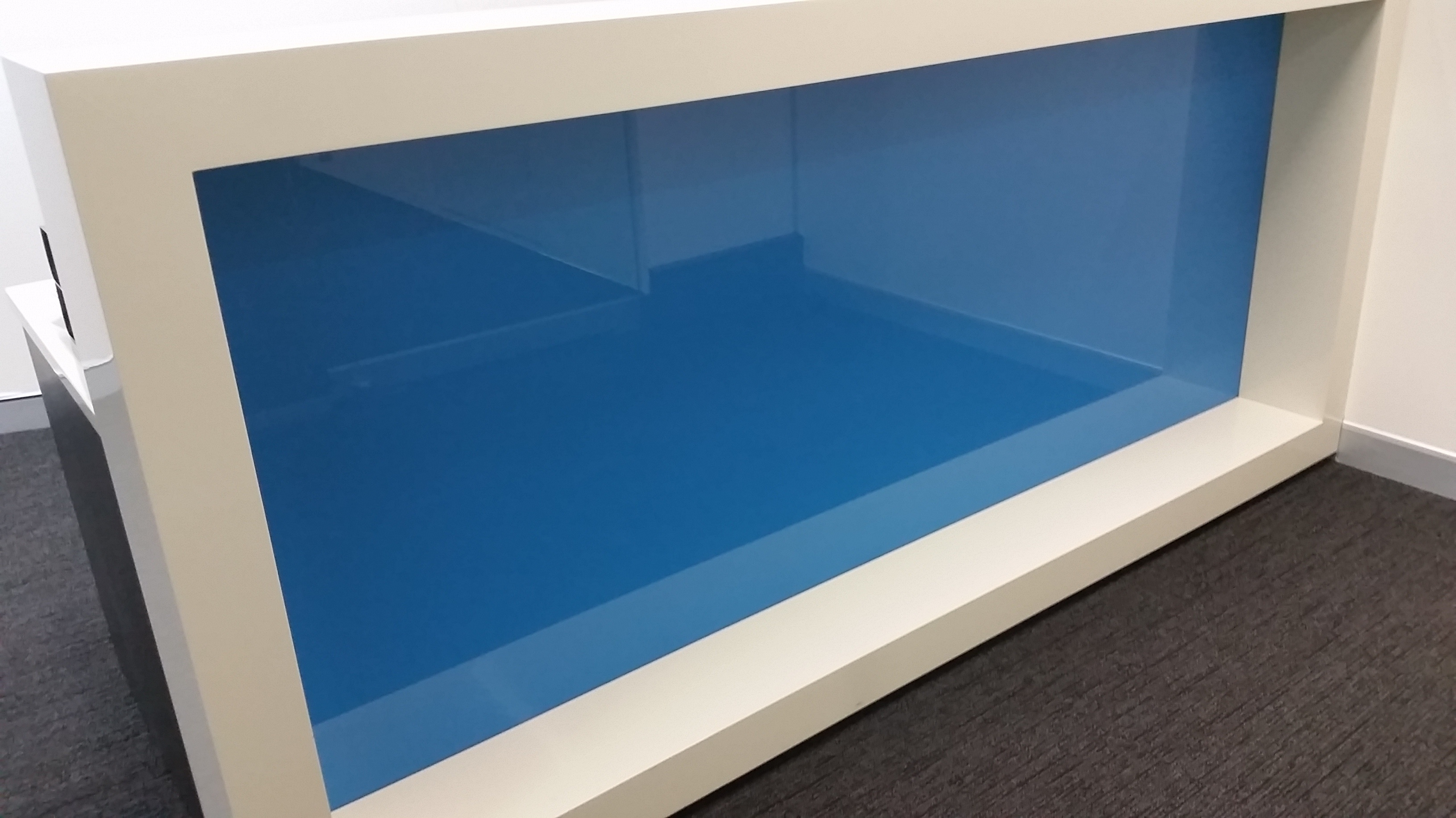 Coloured Glass Wall Cladding to suit office foyers and lift ...